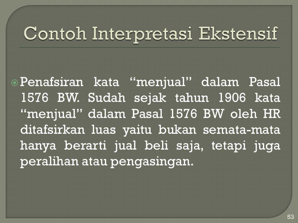Contoh Interpretasi Ekstensif