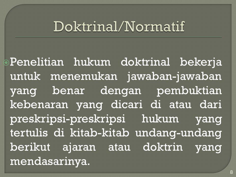 Doktrinal/Normatif