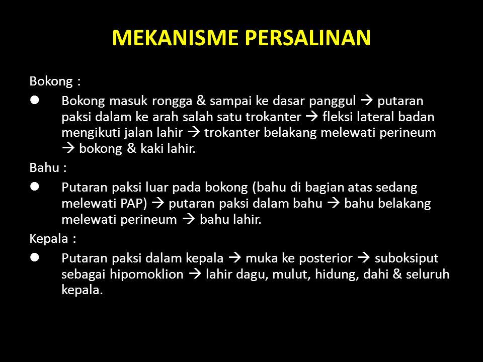 MEKANISME PERSALINAN Bokong :
