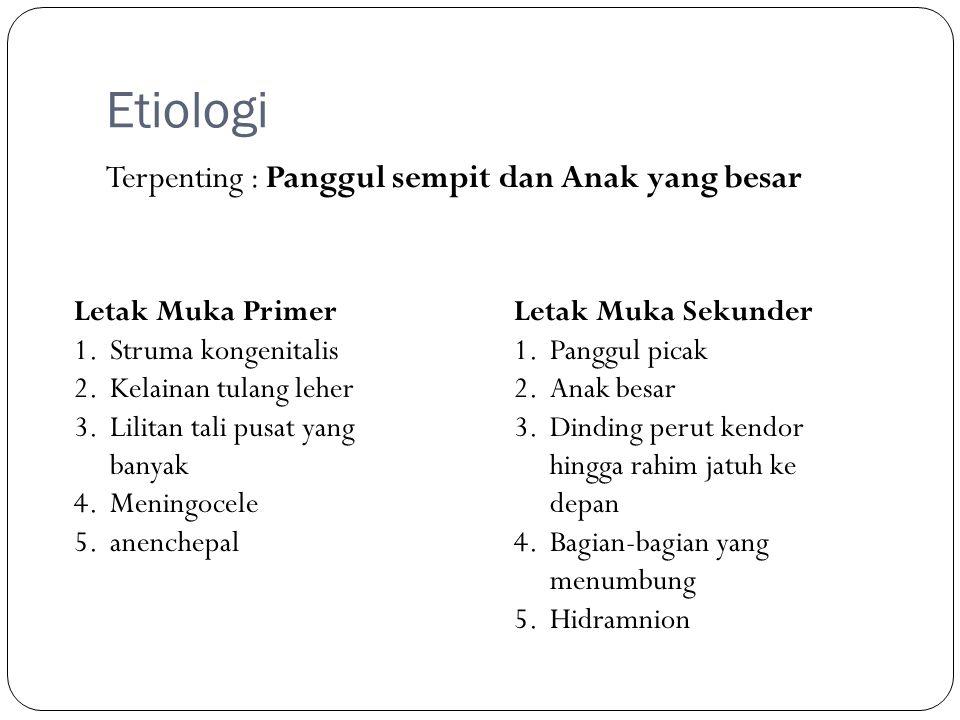 Etiologi Terpenting : Panggul sempit dan Anak yang besar