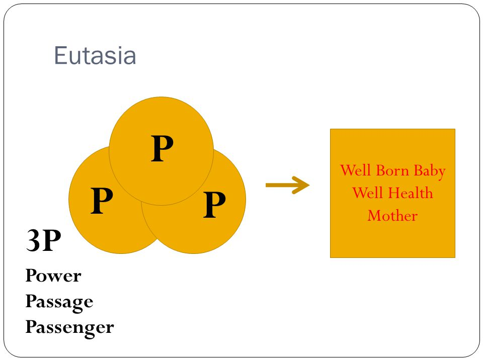 Eutasia P Well Born Baby Well Health Mother 3P Power Passage Passenger