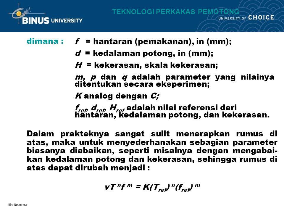 vT nf m = K(Tref) n(fref) m