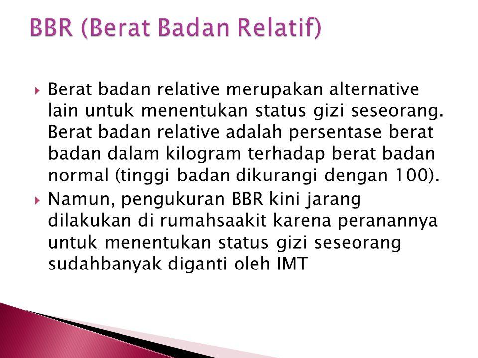 BBR (Berat Badan Relatif)