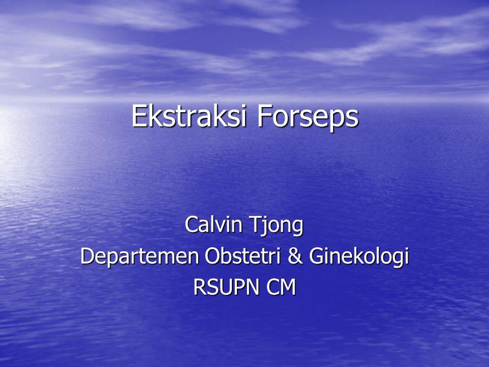 Calvin Tjong Departemen Obstetri & Ginekologi RSUPN CM