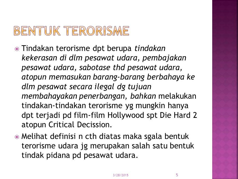 Bentuk terorisme