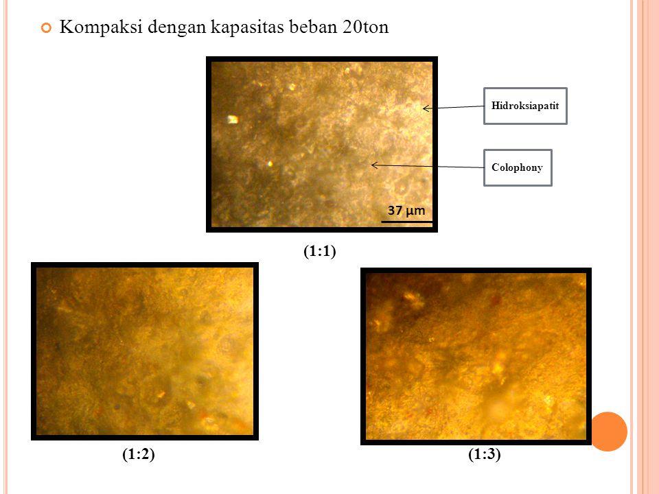 (1:1) Kompaksi dengan kapasitas beban 20ton (1:2) (1:3) 37 µm