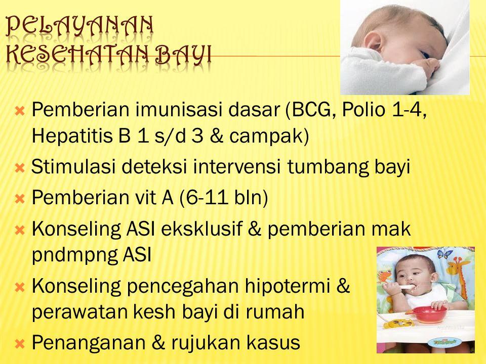 Pelayanan kesehatan bayi