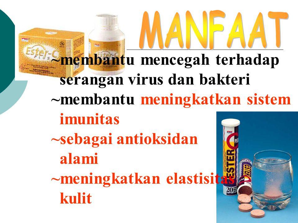 ~membantu mencegah terhadap serangan virus dan bakteri