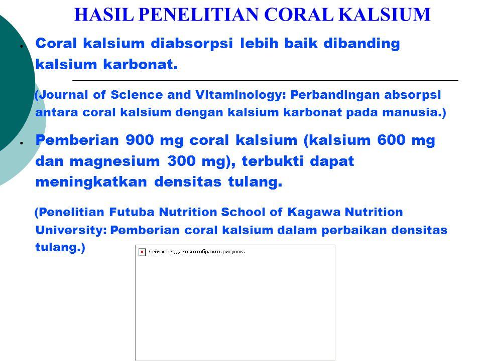 HASIL PENELITIAN CORAL KALSIUM