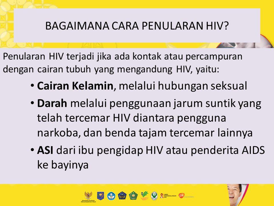 BAGAIMANA CARA PENULARAN HIV