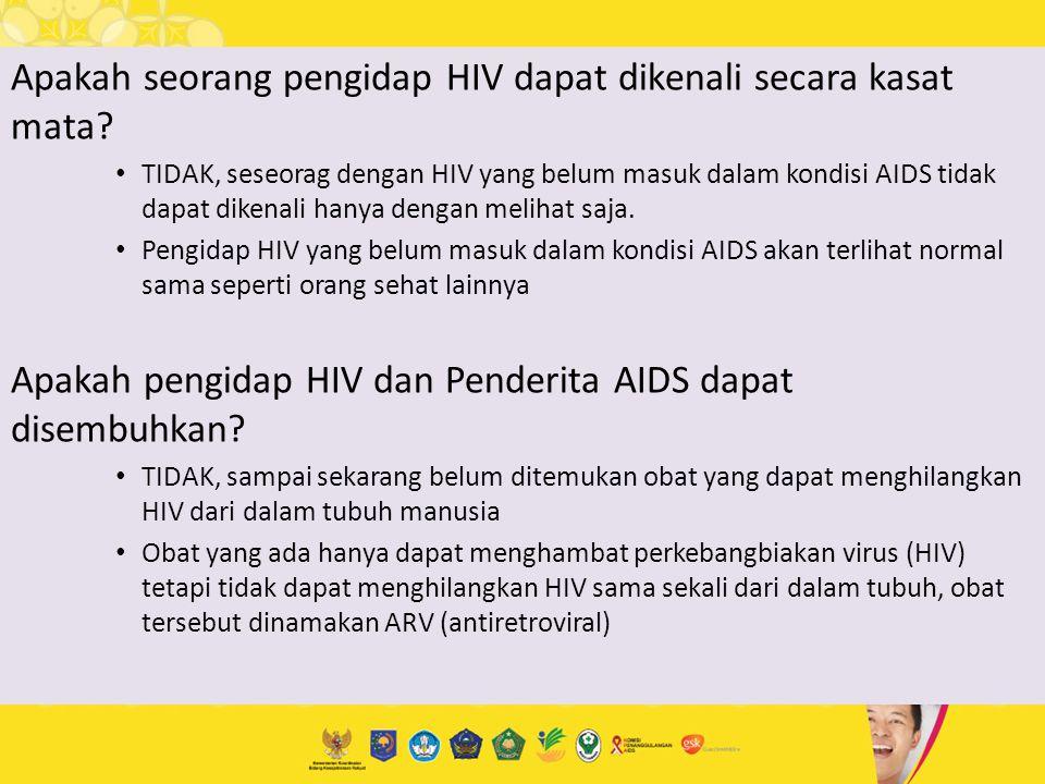 Apakah seorang pengidap HIV dapat dikenali secara kasat mata