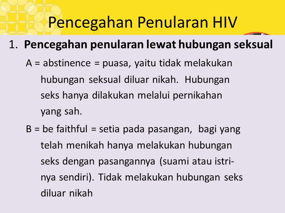 Pencegahan Penularan HIV
