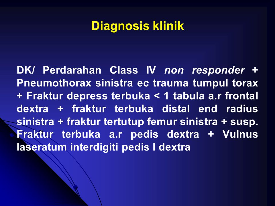 Diagnosis klinik