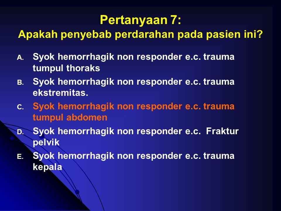Pertanyaan 7: Apakah penyebab perdarahan pada pasien ini
