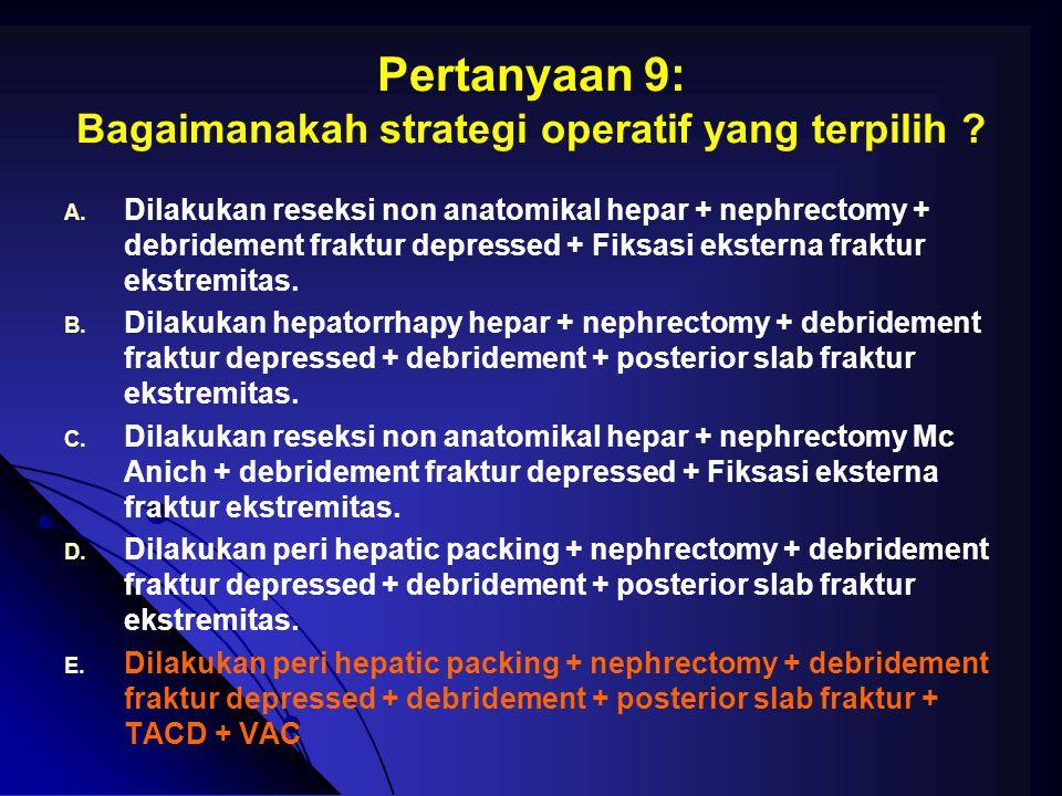 Pertanyaan 9: Bagaimanakah strategi operatif yang terpilih