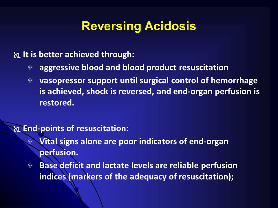 Reversing Acidosis It is better achieved through: