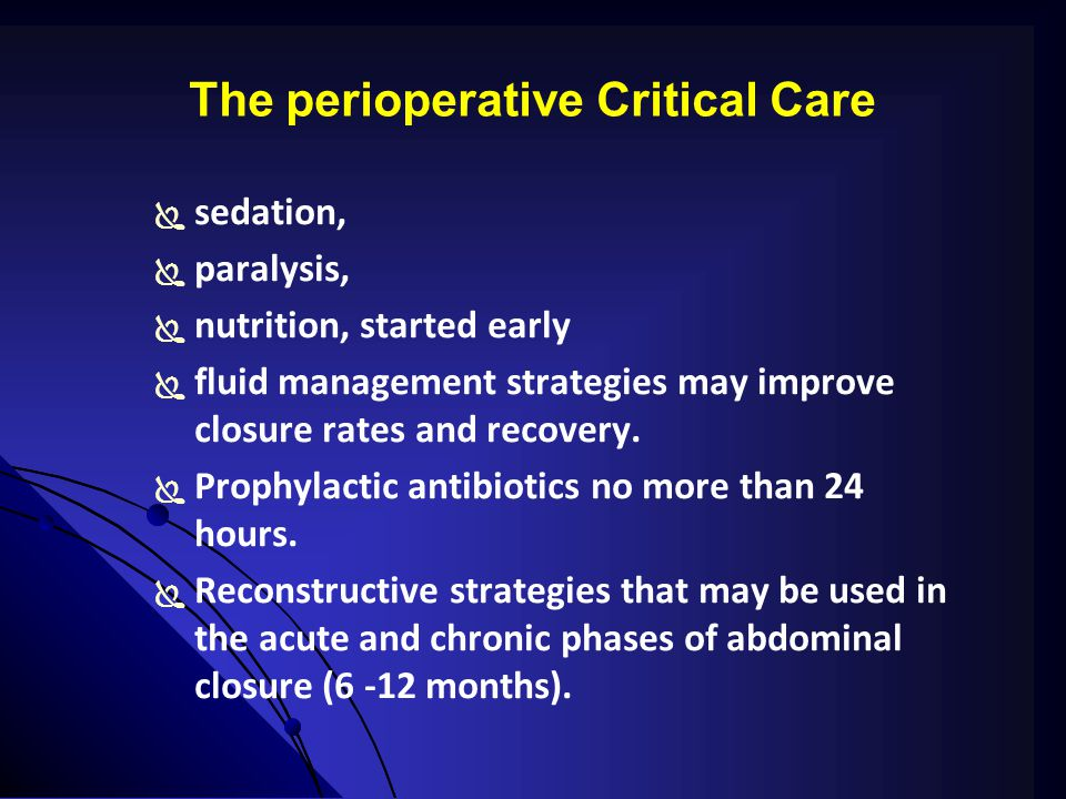 The perioperative Critical Care