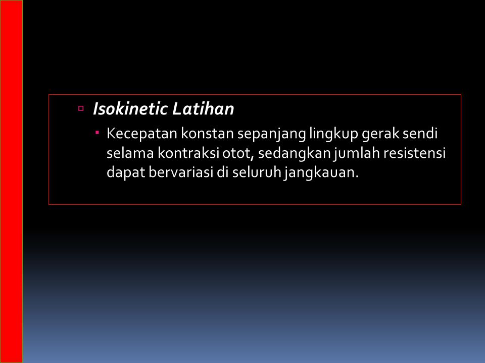 Isokinetic Latihan