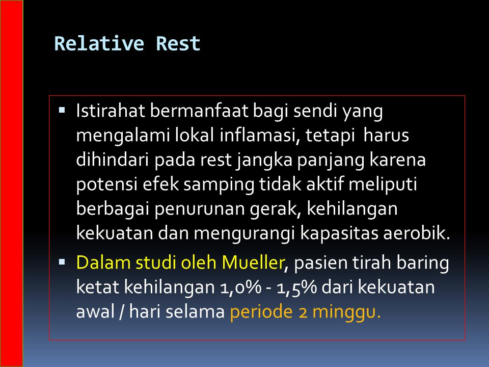 Relative Rest