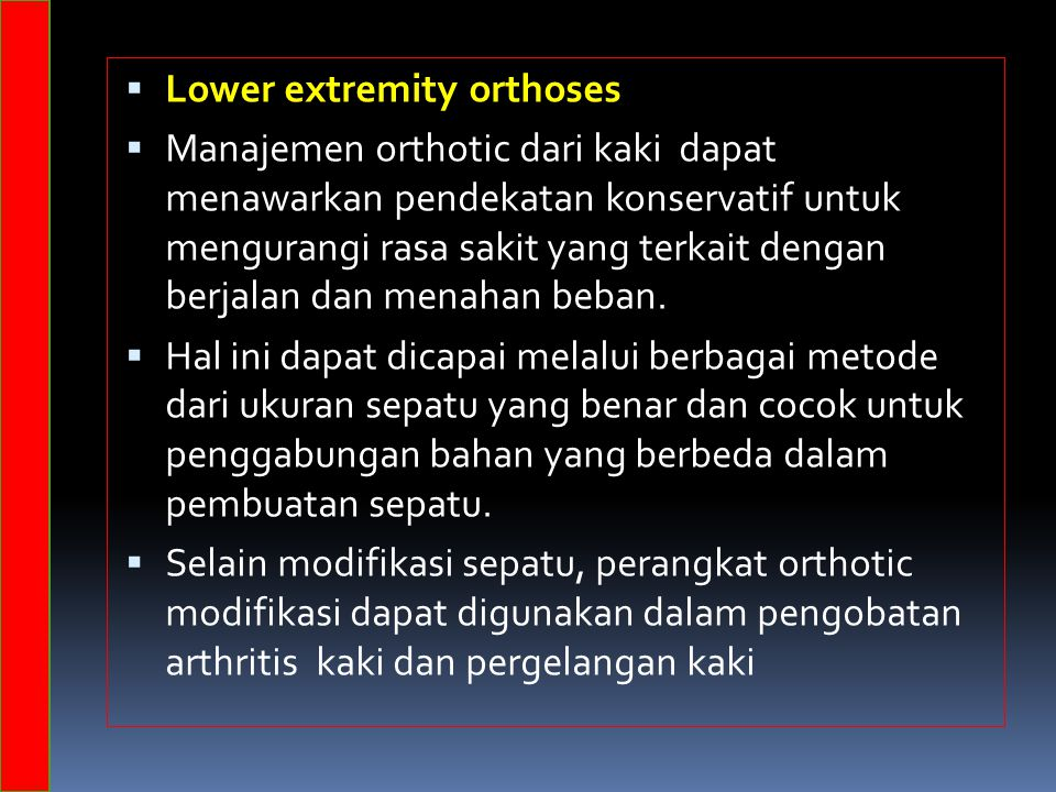 Lower extremity orthoses