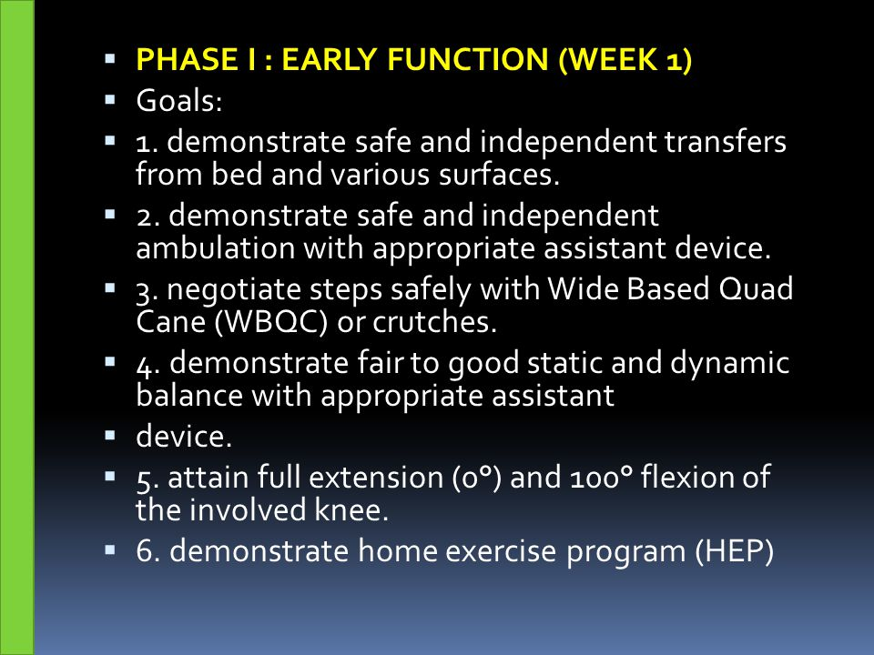PHASE I : EARLY FUNCTION (WEEK 1)