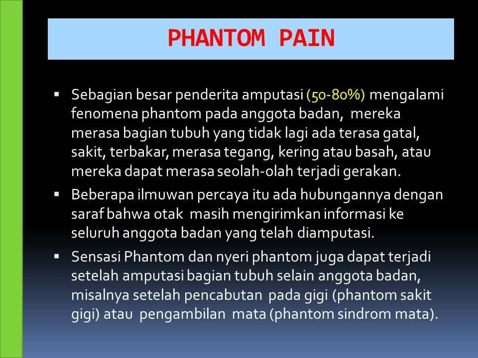 PHANTOM PAIN