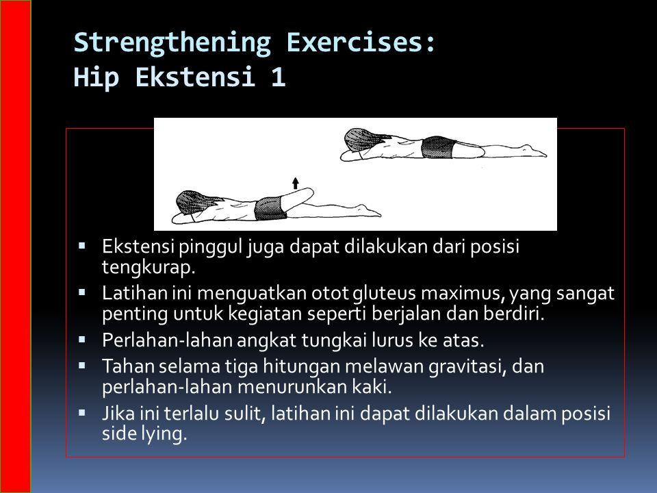 Strengthening Exercises: Hip Ekstensi 1