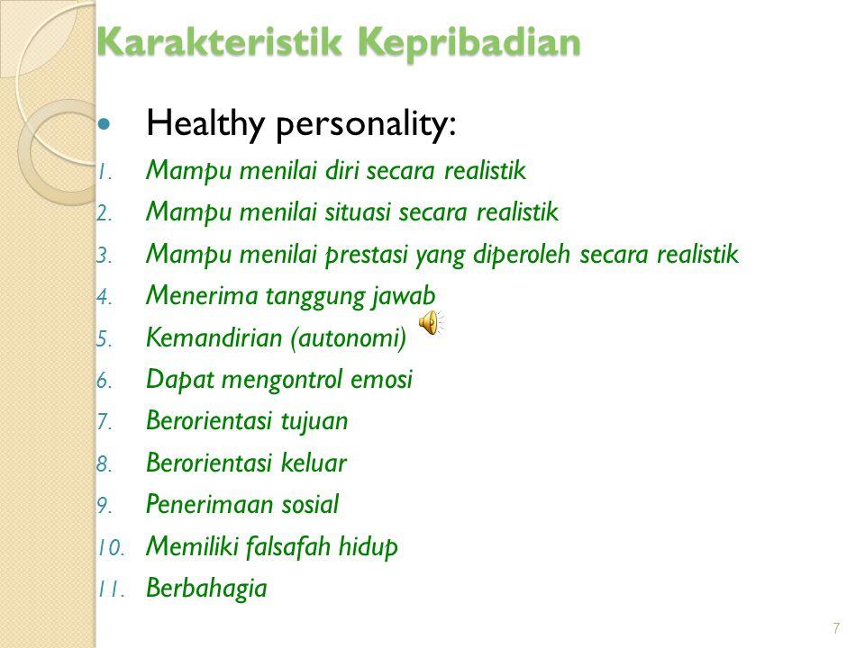 Karakteristik Kepribadian