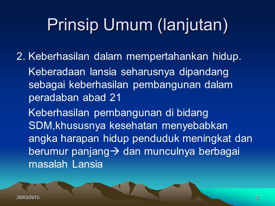 Prinsip Umum (lanjutan)
