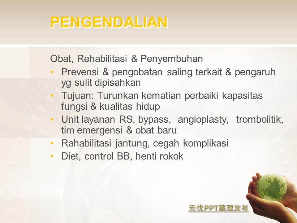 PENGENDALIAN Obat, Rehabilitasi & Penyembuhan
