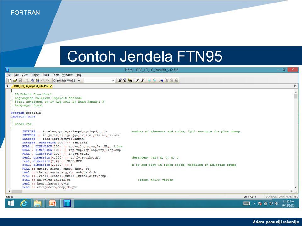 Contoh Jendela FTN95