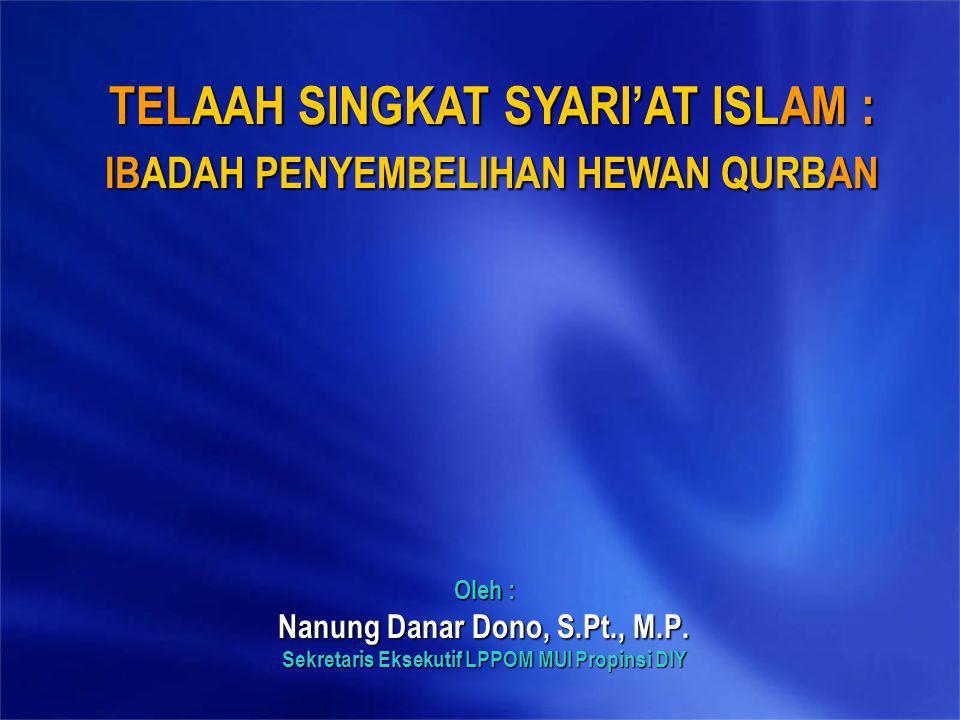 TELAAH SINGKAT SYARI'AT ISLAM :