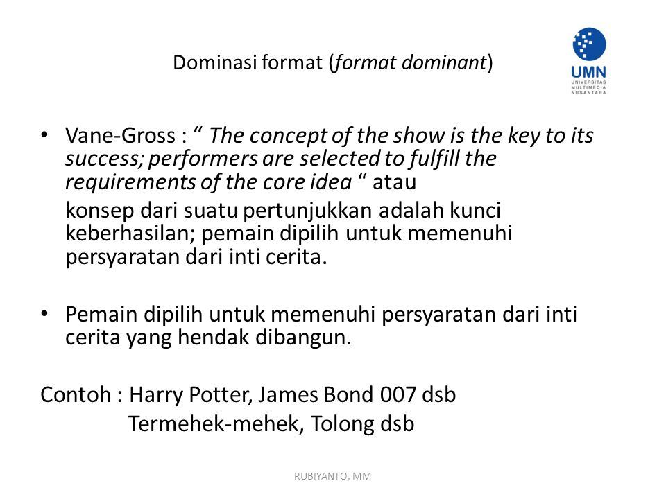 Dominasi format (format dominant)