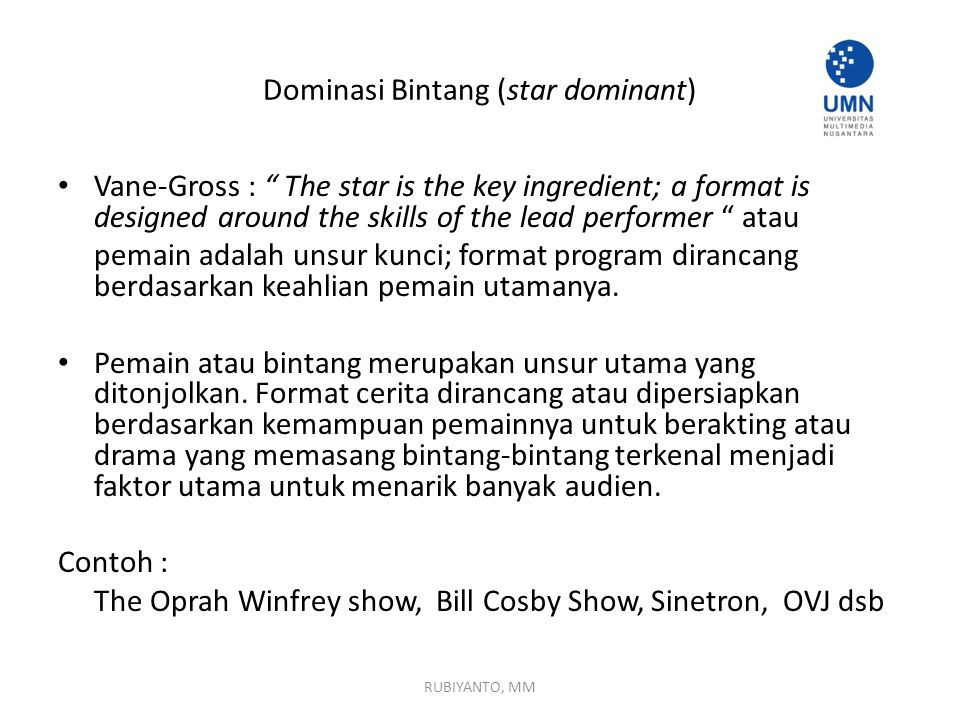Dominasi Bintang (star dominant)