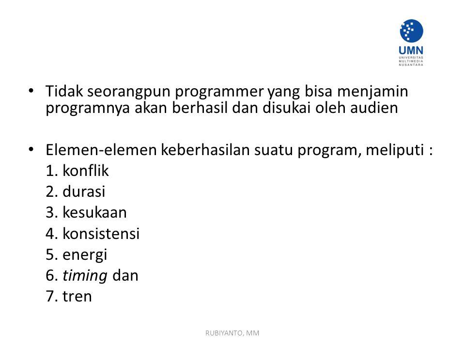 Elemen-elemen keberhasilan suatu program, meliputi : 1. konflik