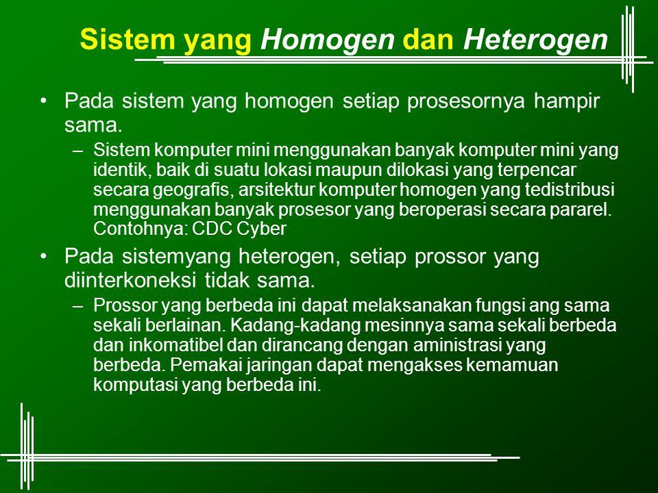 Sistem yang Homogen dan Heterogen