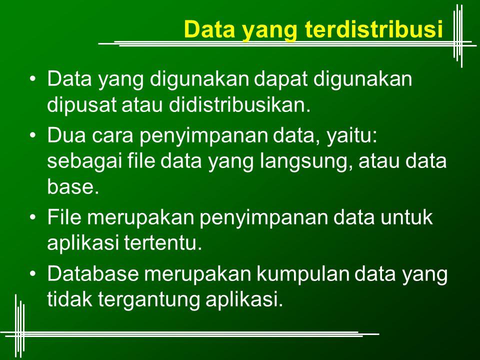 Data yang terdistribusi