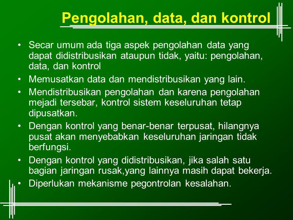 Pengolahan, data, dan kontrol