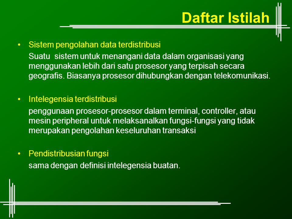 Daftar Istilah Sistem pengolahan data terdistribusi
