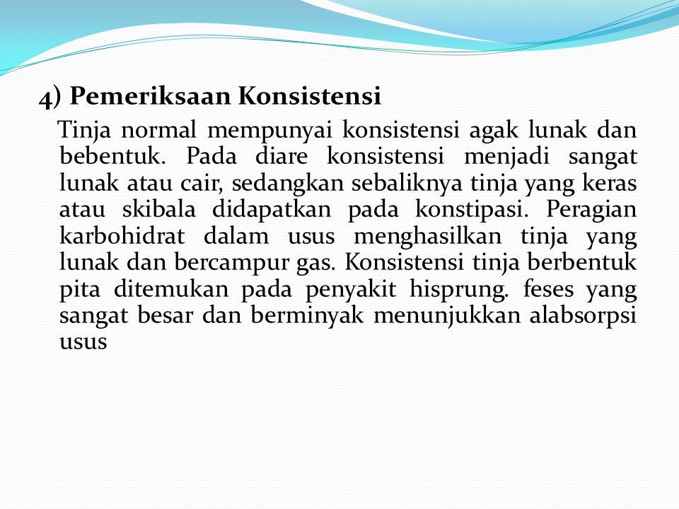 4) Pemeriksaan Konsistensi