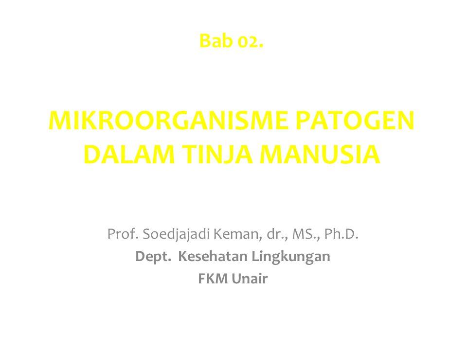 Bab 02. MIKROORGANISME PATOGEN DALAM TINJA MANUSIA