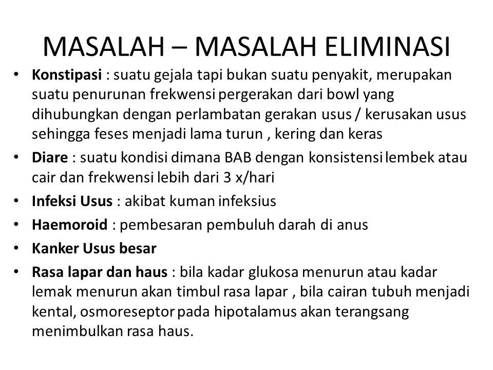 MASALAH – MASALAH ELIMINASI