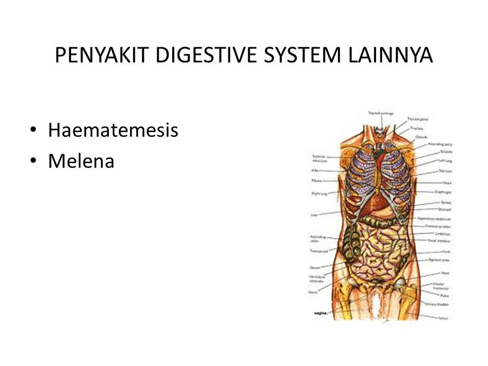 PENYAKIT DIGESTIVE SYSTEM LAINNYA