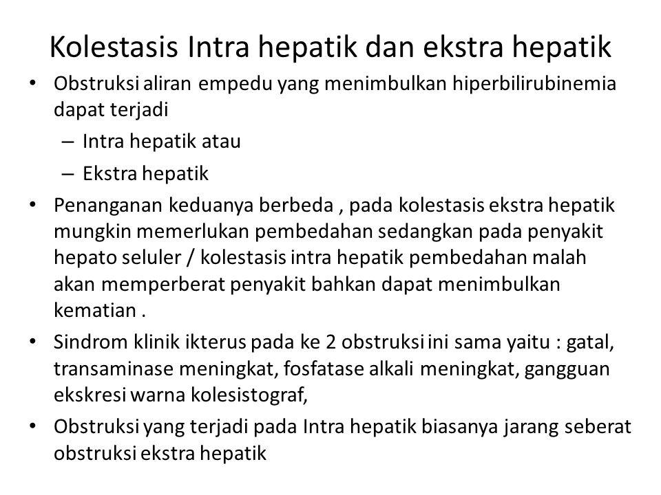 Kolestasis Intra hepatik dan ekstra hepatik