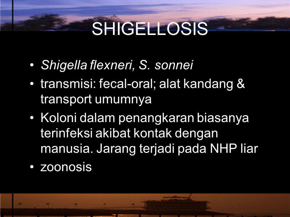 SHIGELLOSIS Shigella flexneri, S. sonnei