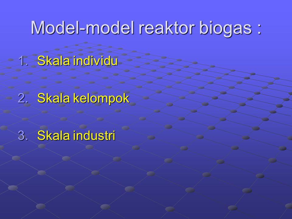 Model-model reaktor biogas :