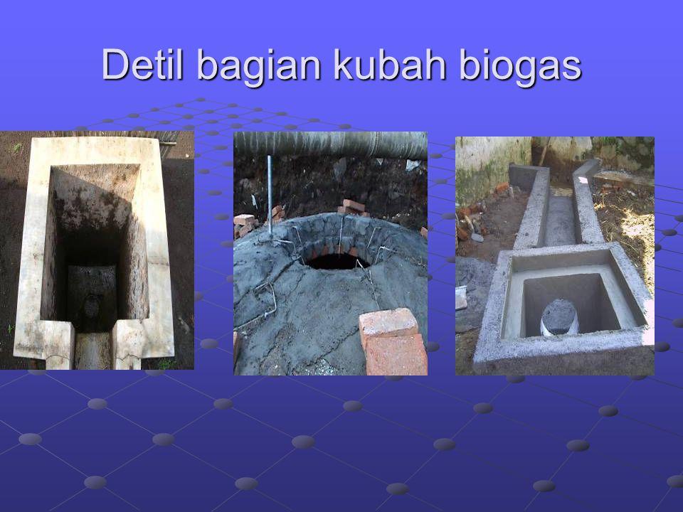 Detil bagian kubah biogas