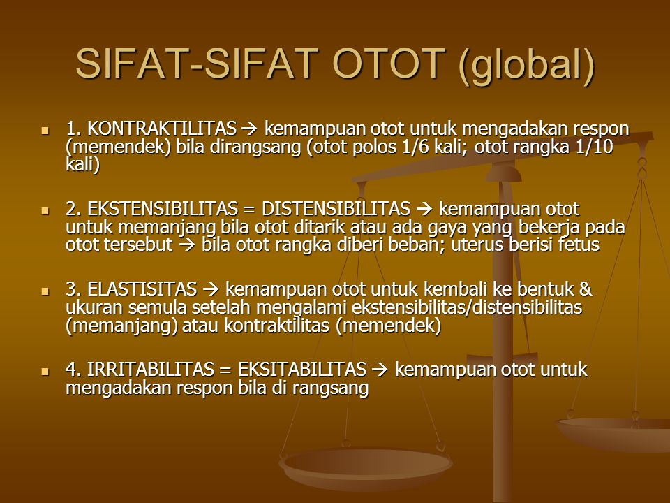 SIFAT-SIFAT OTOT (global)