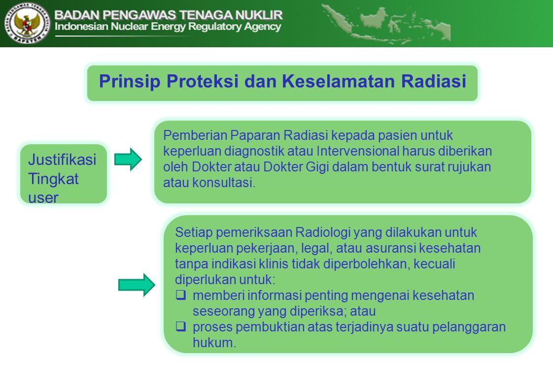 Prinsip Proteksi dan Keselamatan Radiasi