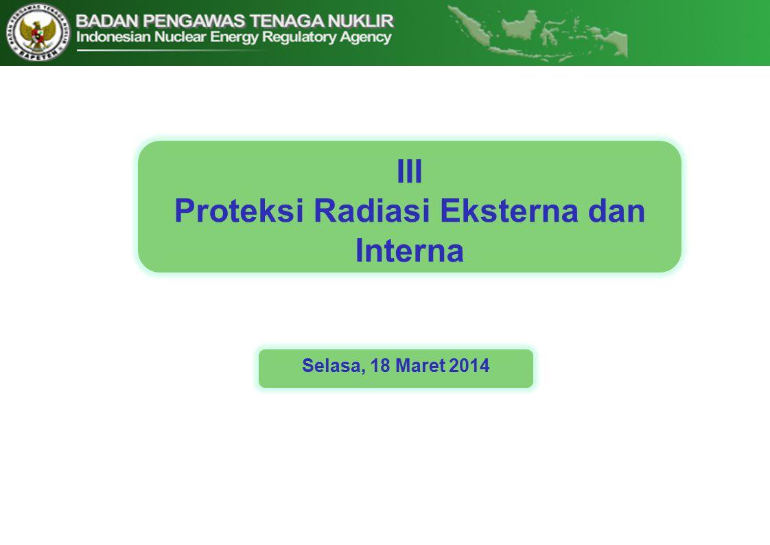Proteksi Radiasi Eksterna dan Interna